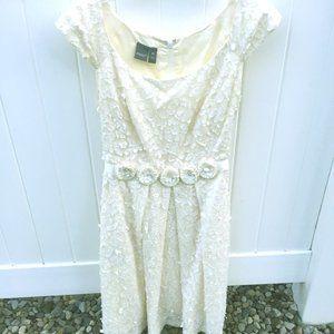 White Lace Flower Dress